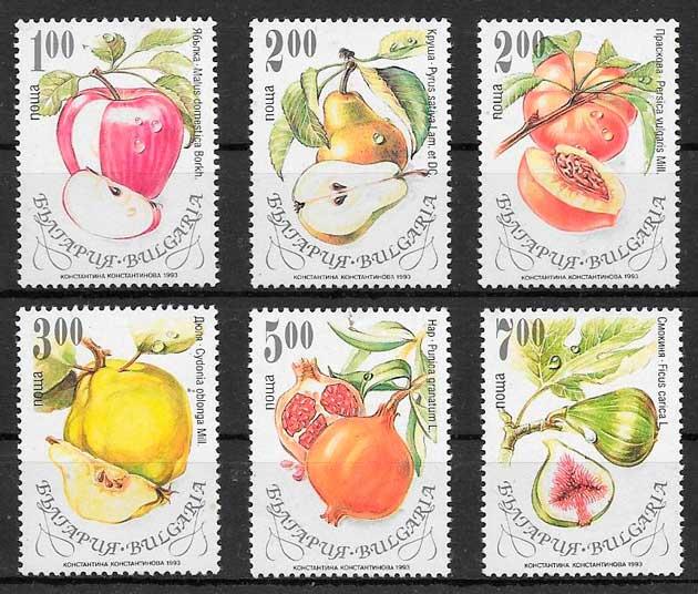 sellos frutas Bulgaria 1993