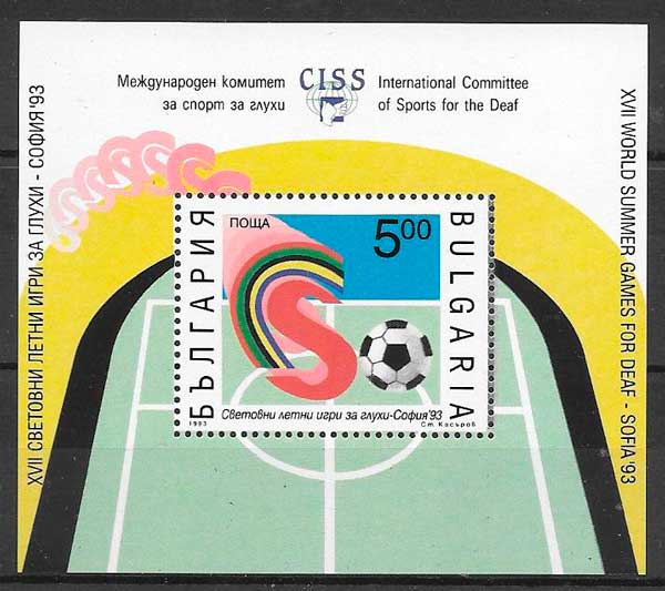 sellos fútbol Bulgaria 1993