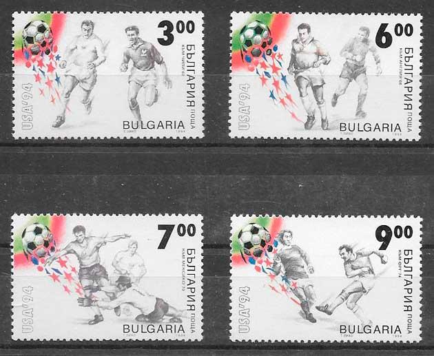 filatelia colección fútbol Bulgaria 1994