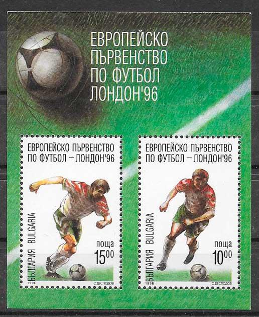 filatelia fútbol Bulgaria 1996