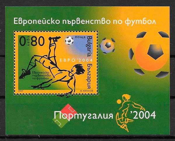 filatelia colección fútbol Bulgaria 2004