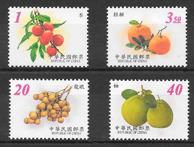 sellos frutas Formosa 2001