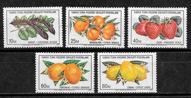 sellos frutas Chipre Turco 1976