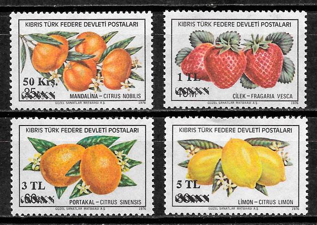sellos frutas Chipre Turco 1979