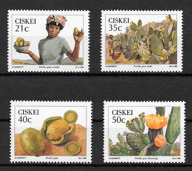filatelia colección frutas Ciskei 1990