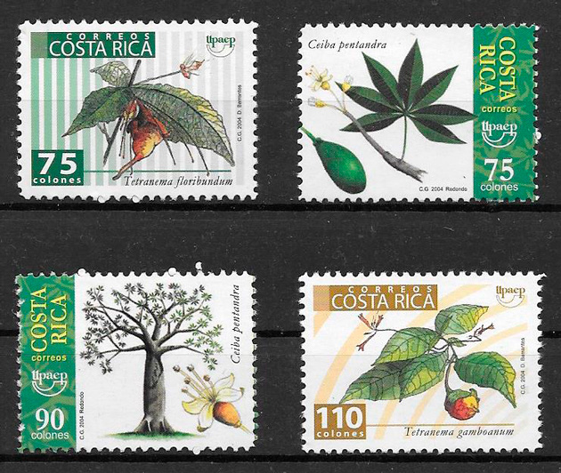 colección sellos frutas Costa Rica