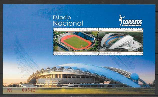 colección sellos Costa Rica 2011