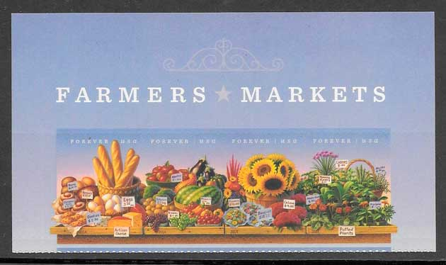 colección sellos frutas EE.UU 2014