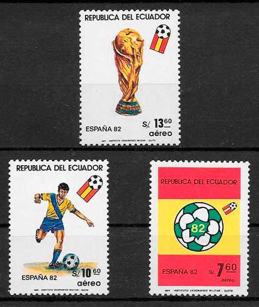 sellos fútbol Ecuador 1982