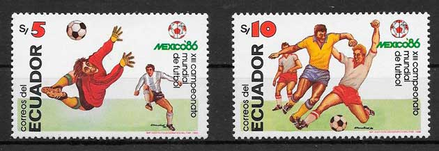 filatelia colección fútbol 1986