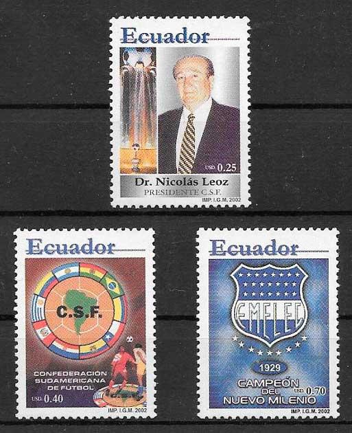 colección sellos fútbol Ecuador