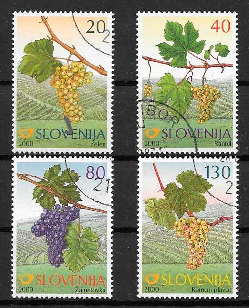 sellos frutas Eslovenia 2000