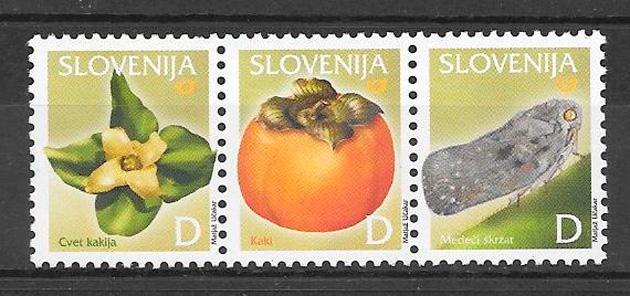 filatelia colección frutas Eslovenia 2006