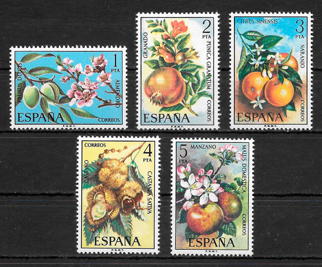 filatelia coleccion frutas Espana 1975
