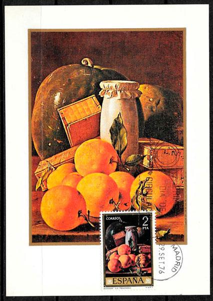 coleccion sellos frutas Espana 1976
