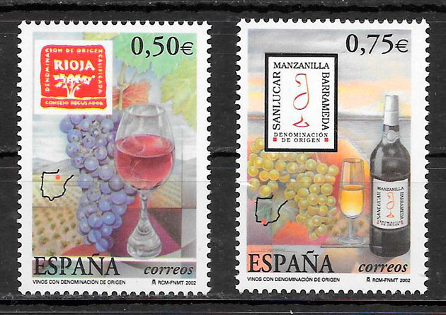 sellos frutas Espana 2002