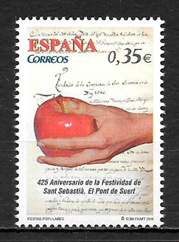 coleccion sellos frutas Espana 2011