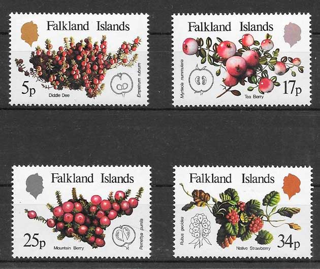 sellos frutas Falkland Islands 1983