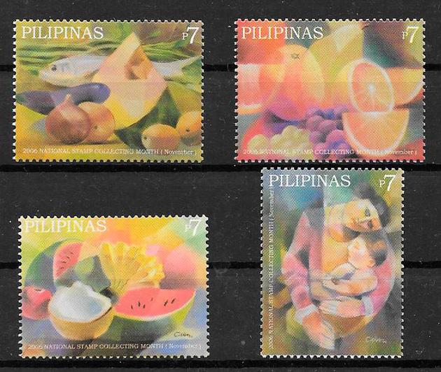 colección sellos frutas Filipinas 2006
