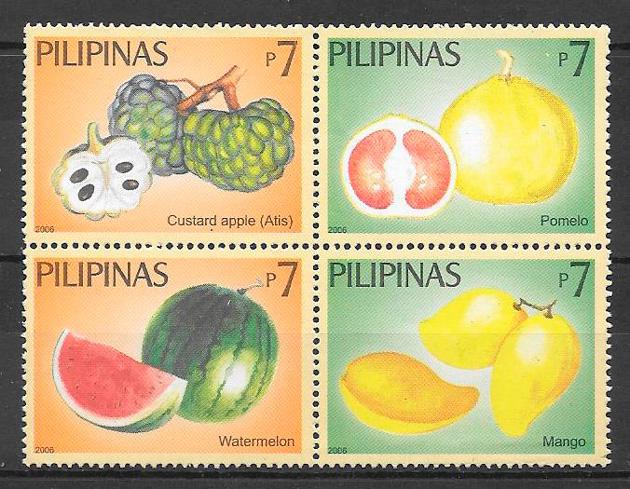 sellos frutas Filipinas 2008