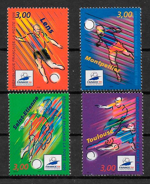 filatelia fútbol Francia 1996