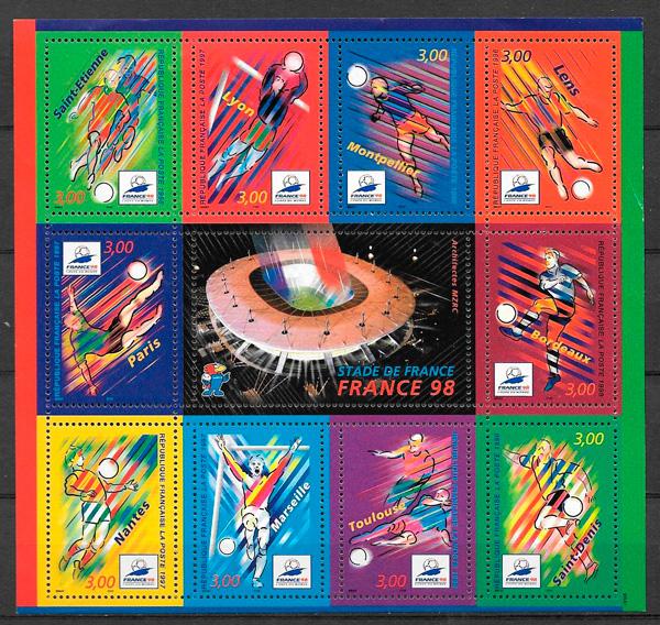 filatelia fútbol Francia 1998