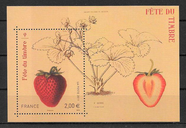 filatelia frutas Francia 2011