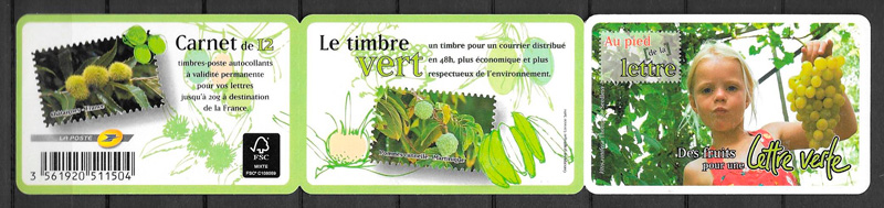 sellos frutas Francia 2012