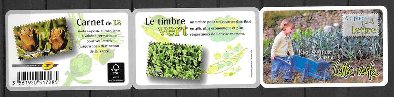filatelia frutas Francia 2012