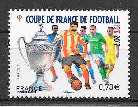 filatelia fútbol Francia 2017