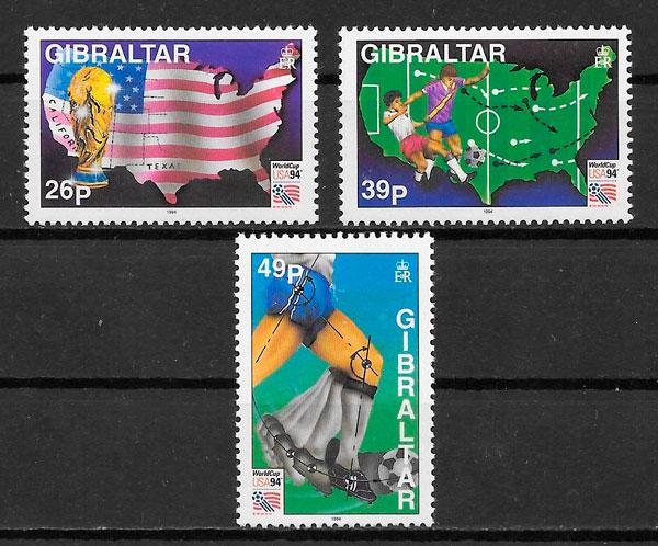 filatelia fútbol Gibraltar 1994