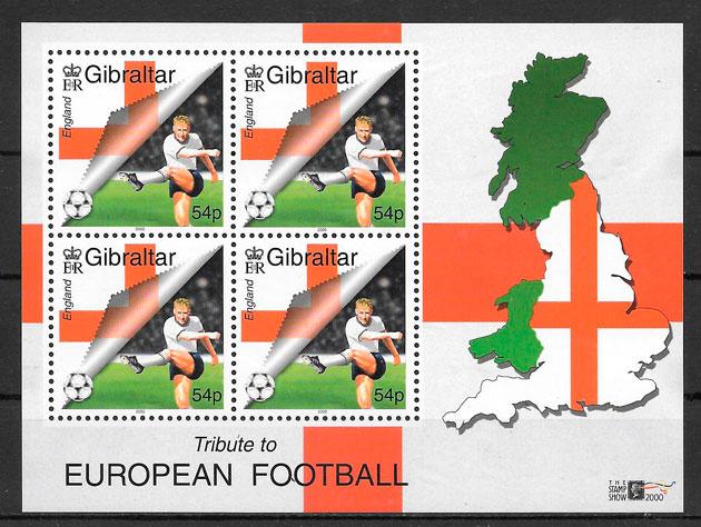 sellos fútbol Gibraltar 2000