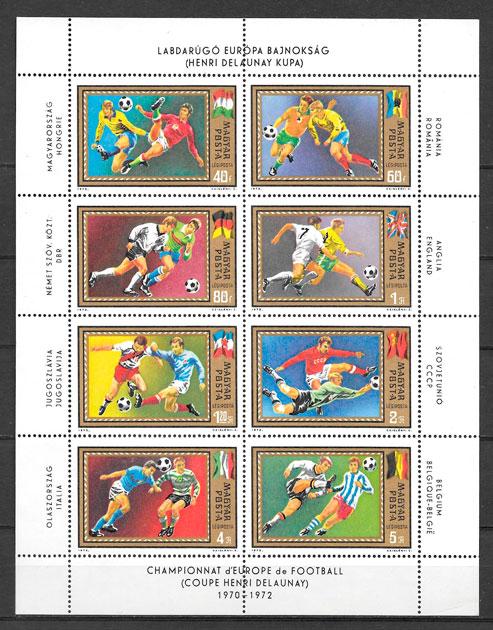 colección sellos fútbol 1972