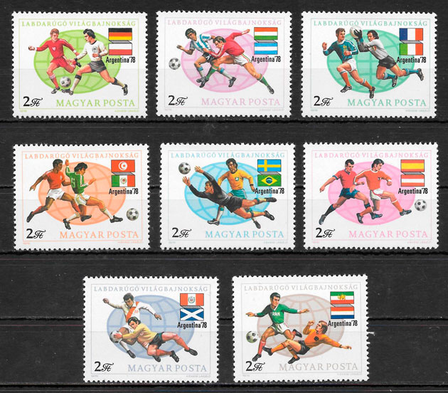 filatelia colección fútbol Hungría 1978