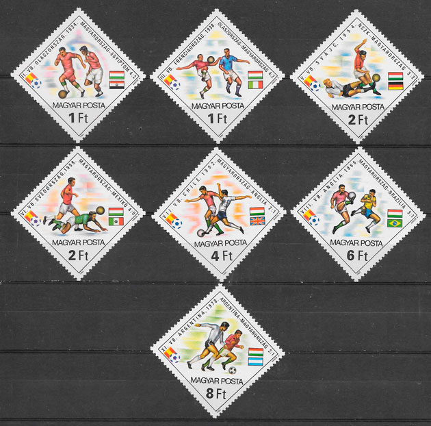 colección sellos futbol 1982