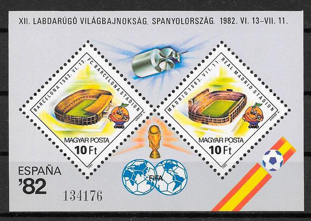 colección sellos fútbol 1982