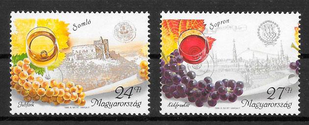 sellos frutas Hungría 1999
