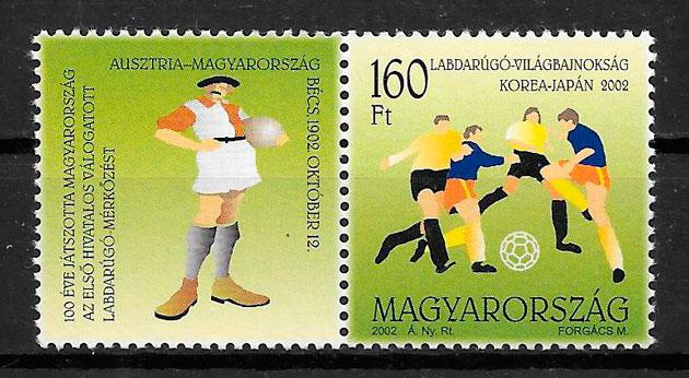 filatelia fútbol Hungría 2002