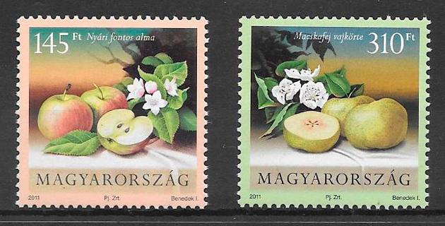colección sellos frutas Hungría 2011