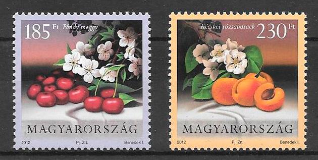 colección sellos frutas Hungría 2012