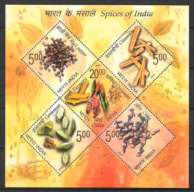 sellos frutas India 2009