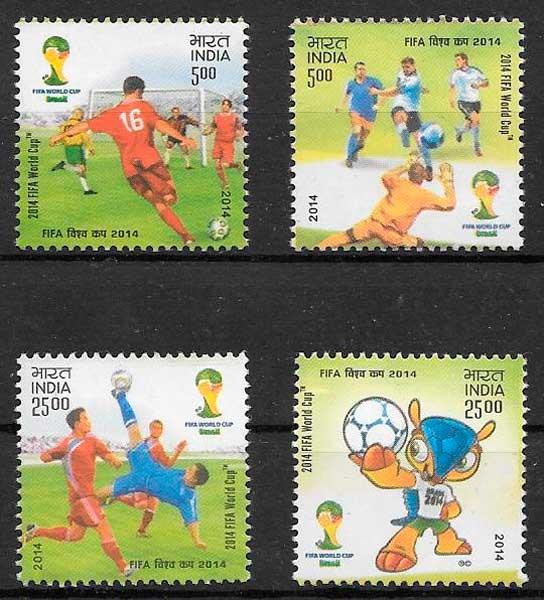 sellos fútbol India 2014