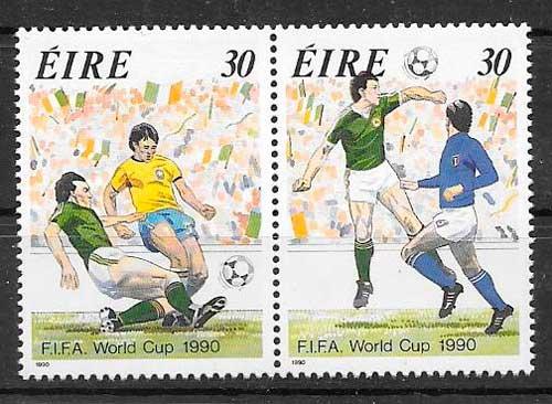 sellos futbol Iralanda 1990