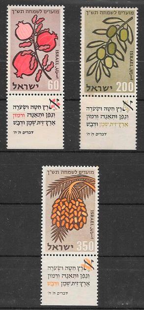colección sellos frutas Israel 1959