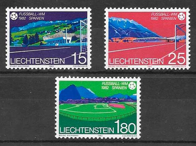 colección sellos fútbol Liechtenstein
