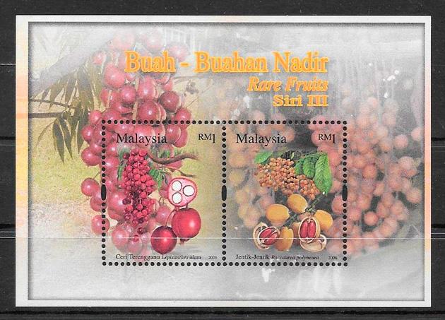 sellos frutas Malasia 2006
