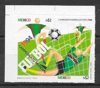 colección sellos fútbol México 1994
