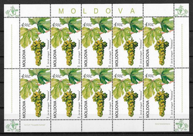 sellos frutas Moldavia 2010