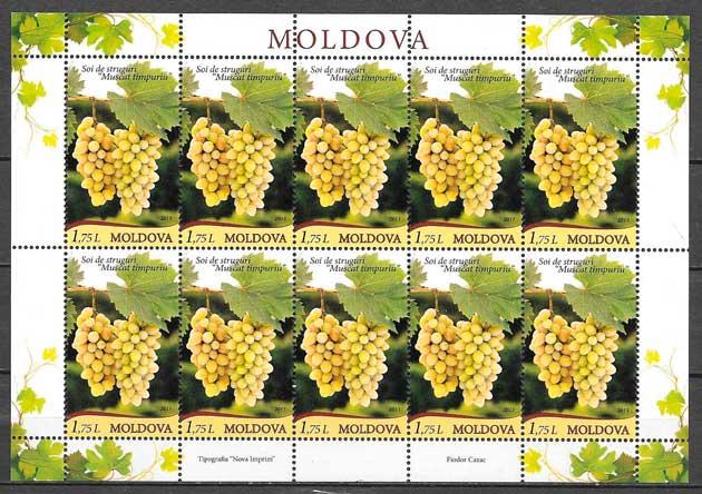 filatelia fruta Moldavia 2013