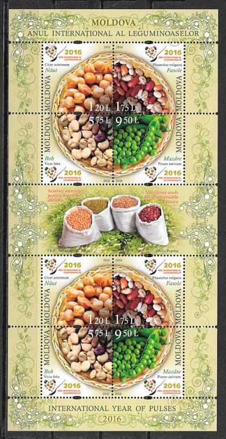 colección sellos frutas Moldavia 2016